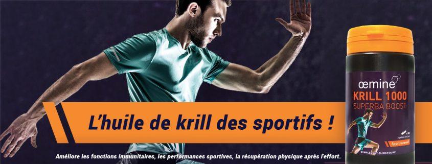 Nouvelle huile de krill pour le sport
